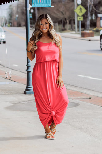 Layered Cami Maxi Dress in Several Colors