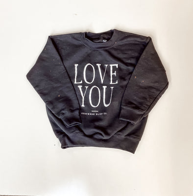Love You Bleached Youth Graphic Pullover