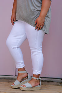 Curvy White Kancan Denim