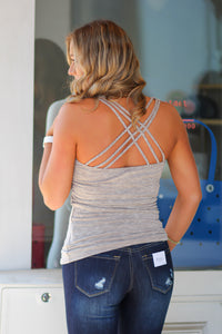 Ribbed Tank with Criss Cross Back in many Colors