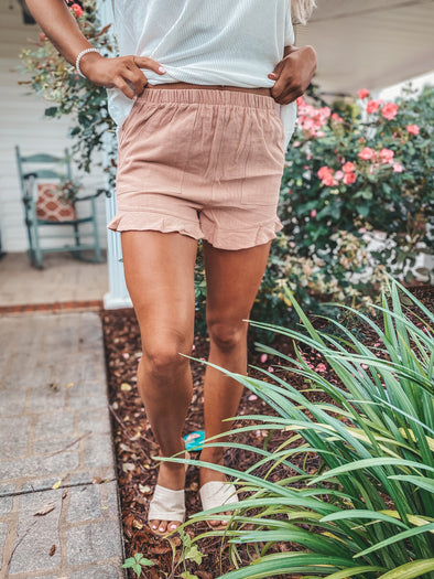 Flutter Ruffle Shorts In Two Colors