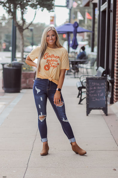 Gather Gobble Shop Graphic Tee