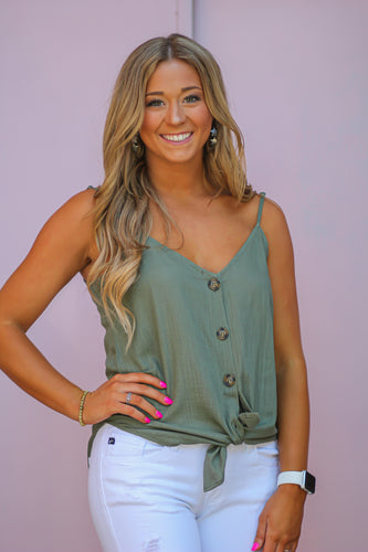 Linen Coconut Button Down Cami in many colors