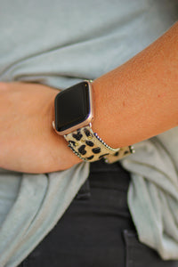 Erimish Leopard Leather Apple Watch Band