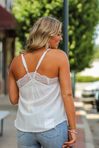 Lace Racerback Cami Tank Top with Adjustable Straps
