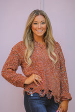 Cinnamon Rainbow Distressed Sweater