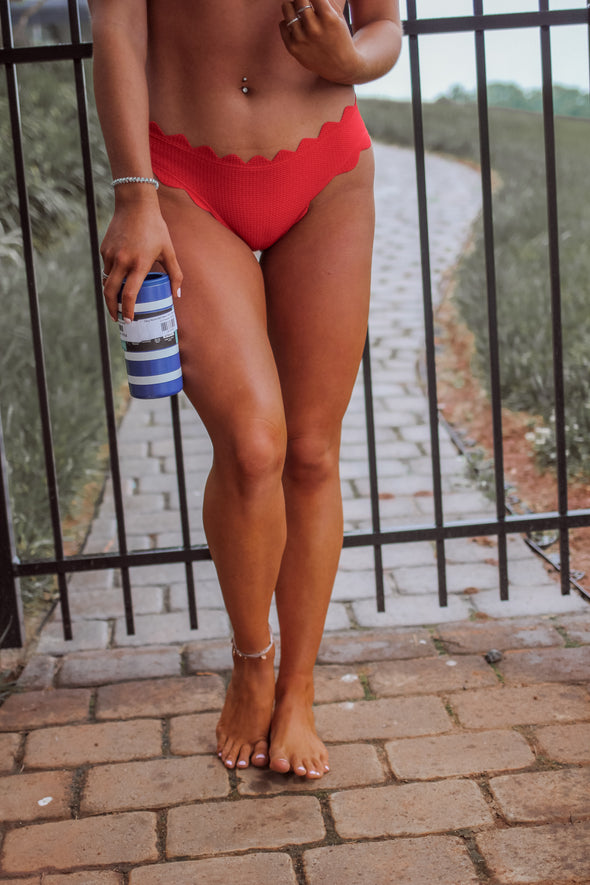 The Evie Two Piece Swimsuit In Red