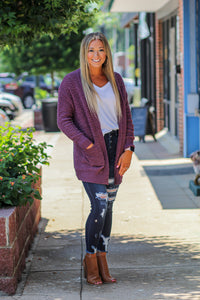Long Sleeve Popcorn Cardigan in Many Colors