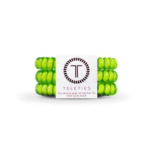 Lime Small teleties 3 pk