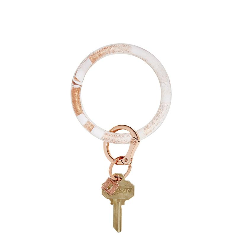 Rose Gold Marble Oventure Big O Key Ring