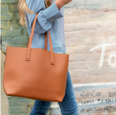 The Carly Purse in Camel