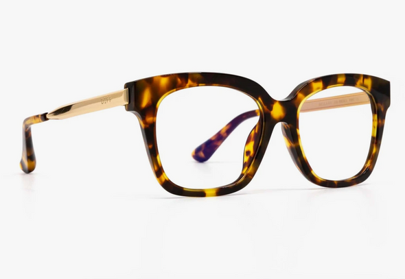 Diff Bella Amber Tortoise Blue Light Glasses