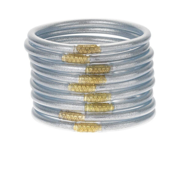 BuDhaGirl Silver All Weather Set of 9 Bangles