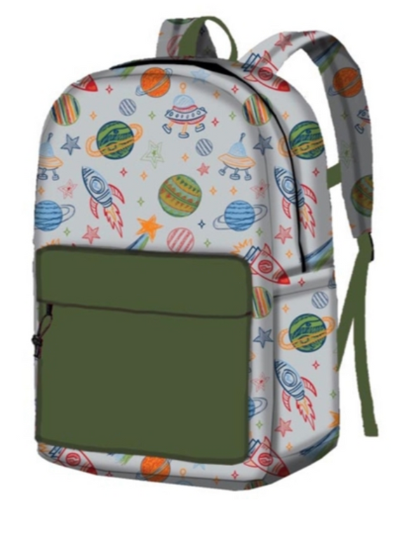 Kids Outta This World Canvas Backpack