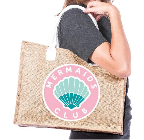 Mermaids Club Jute Tote