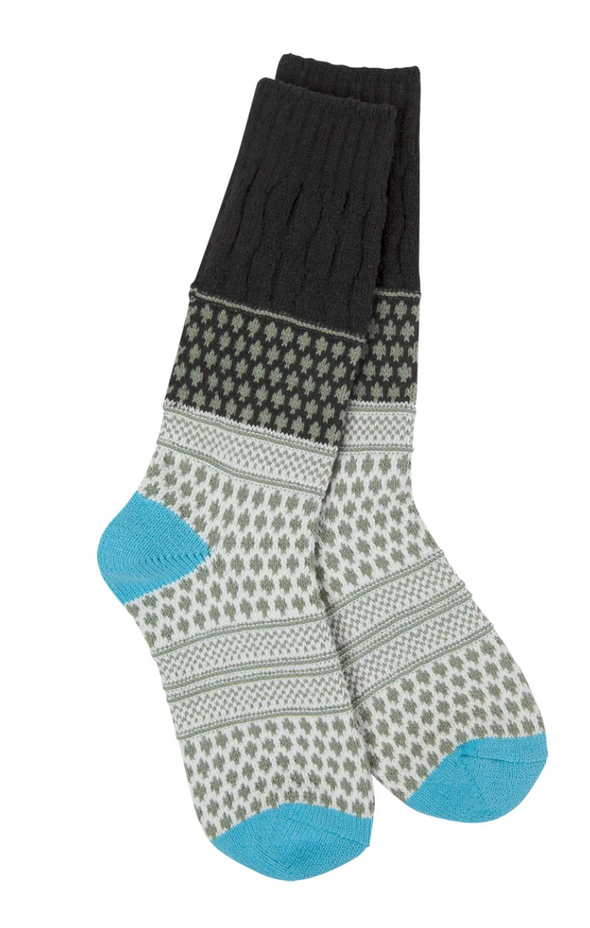 World's Softest Weekend Gallery Textured Crew Socks in Several Colors