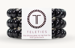 Jet Black Teleties, Large 3pk