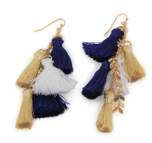 Erimish Aaron Tassel Gameday Earrings