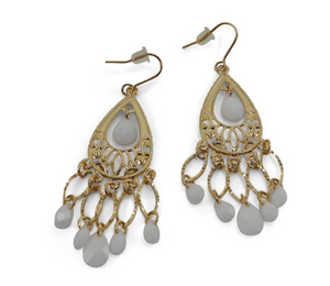 Erimish Gold and Cream Earrings
