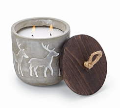 Concrete Multi Deer Candle