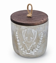 Bust Deer Concrete Candle