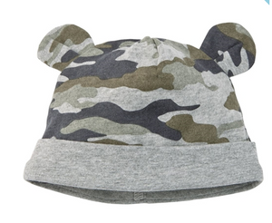 Baby Camo Bootie and Cap Set