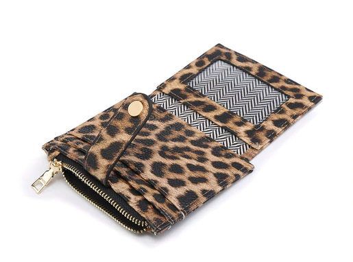 Mini Snap Wallet/Card Holder in Several Colors