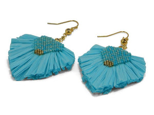 Erimish Turquoise Statement Earrings