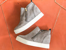 Grey Sneaker Wedge