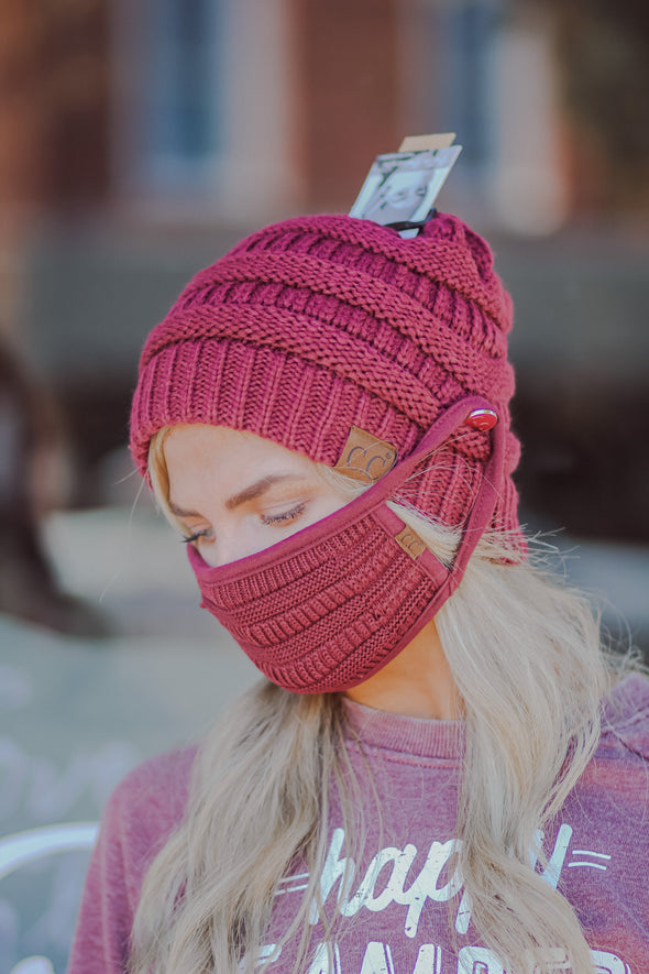 CC Knitted Face Mask in Several Colors