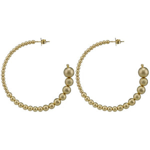 Sheila Fajl Crescent Hoops 18K Gold Plated