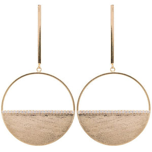 Sheila Fajl Avila Earrings Champagne 18k Gold Plated