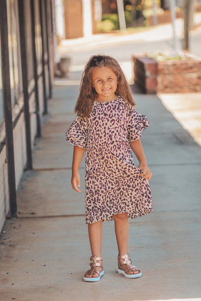 Youth Leopard Ruffle Dress