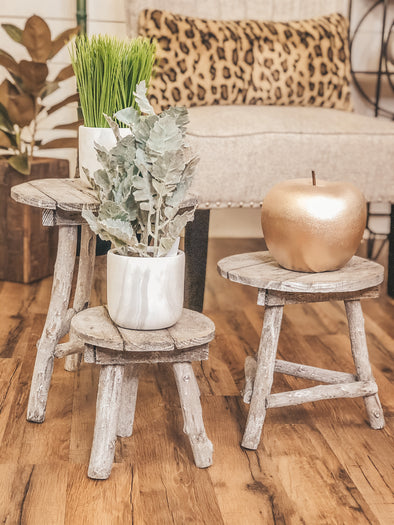 Recycled Wooden Display Stools