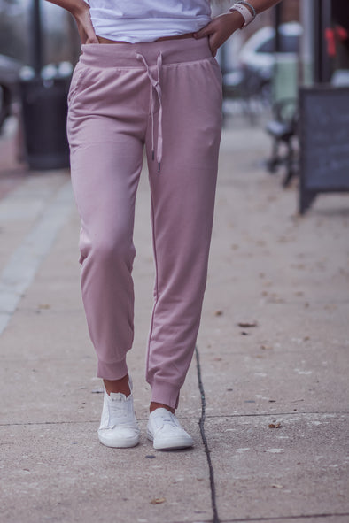 Z Supply Pink Blossom Cypress Loop Terry Joggers