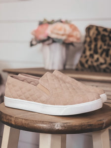 Blush Quilted Sneakers