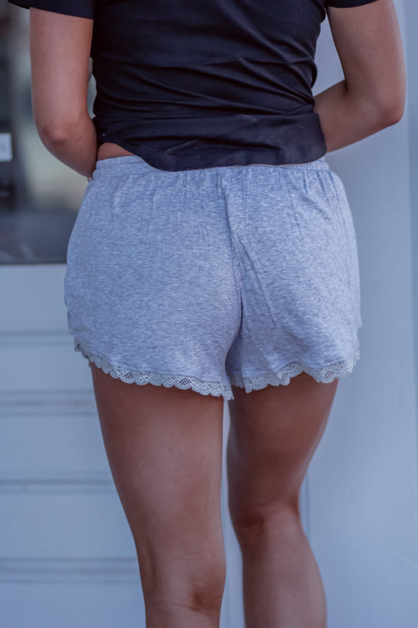 Z Supply Heather Grey Only Love Shorts