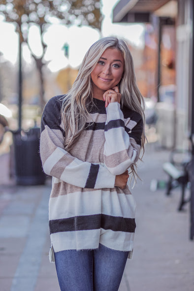 Black Multi Stripe Sweater