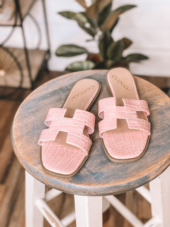 The Gabby Sandals in Blush