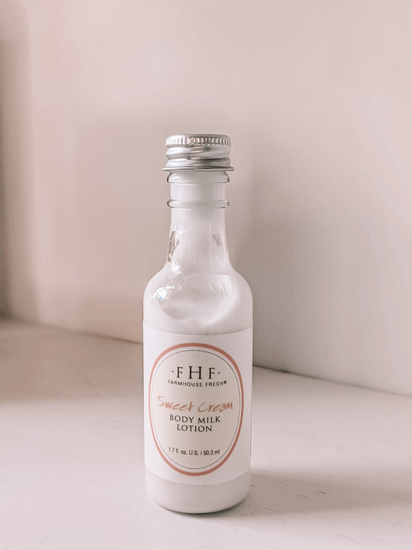 Farmhouse Fresh Sweet Cream 1.7oz Body Milk Lotion