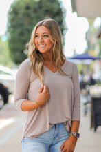 Solid 3/4 Sleeve Top in Several Colors