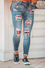 The Buffalo Plaid Patch Jeans