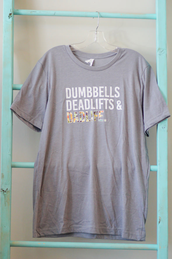 Dumbbells and Deadlifts Tropical Graphic Tee