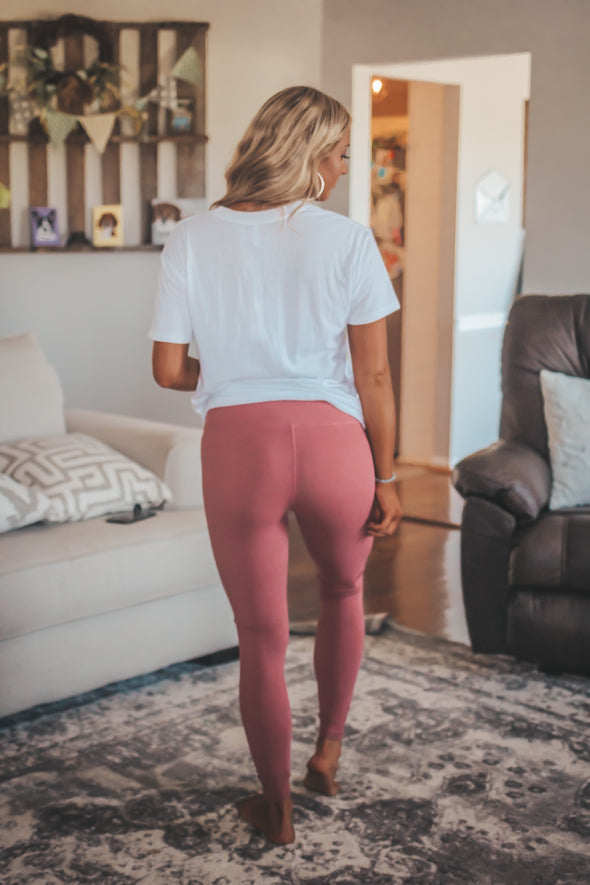 Solid Cut Out Leggings In Several Colors