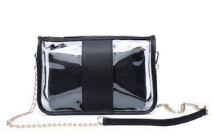 Gameday Clear Crossbody Bag with Bag inside in 4 Colors