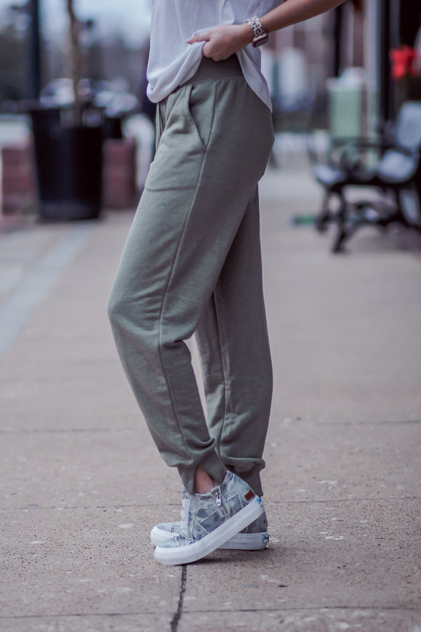 Z Supply Meadow Green Cypress Loop Terry Joggers