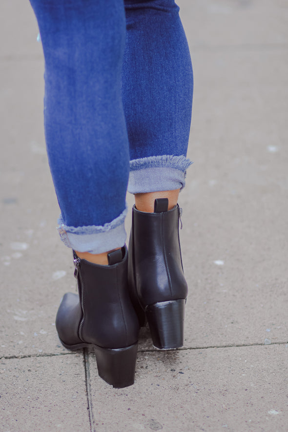 The Cindy Bootie in Black