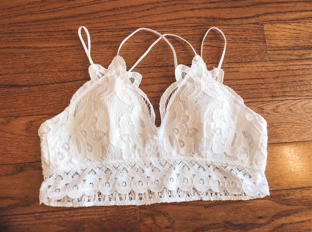 Curvy Double Strap Bralette in Two Colors