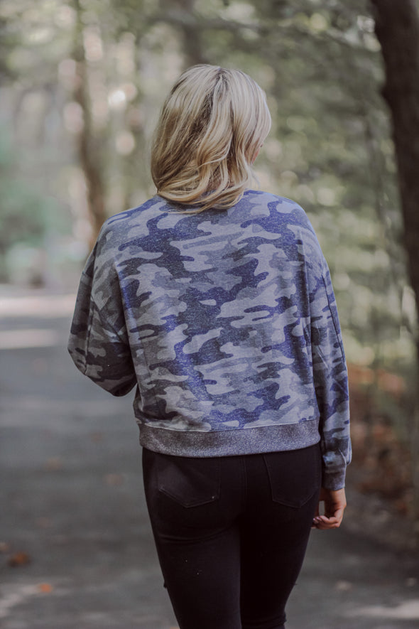 Z Supply Noa Camo Onyx Marled Top
