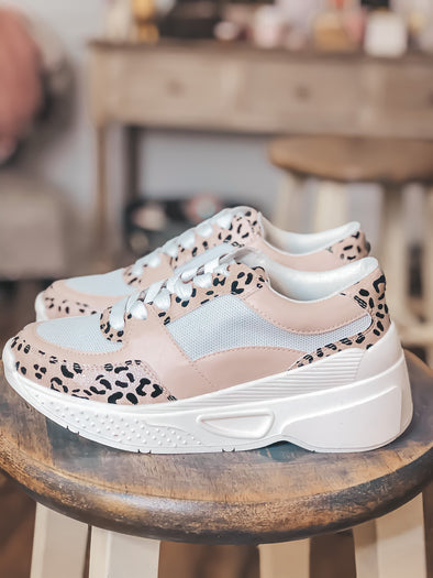 Matisse Blush Leopard Sneakers